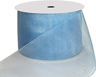 DUOQU 1-1/2 inch Wide Shimmer Sheer Organza Ribbon 25 Yards Copen
