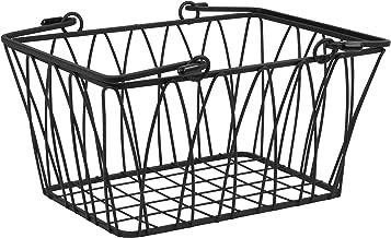 Spectrum Diversified Twist Wire Storage Basket With Handles, Modern Farmhouse Décor, Farmer's Market-Style Wire Basket for Kitchen Organization, Small Storage Basket