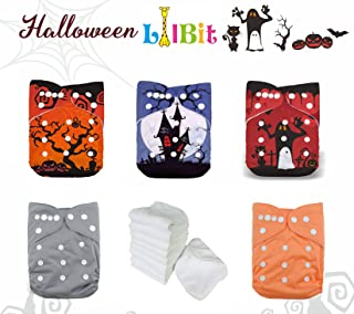 LilBit Halloween Prints Reusable One Size Baby Cloth Diapers (Halloween 01)