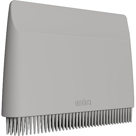 UMBRA Flex sink squeegee. Raclette à évier et lavabo Flex, en silicone gris clair. 10 x 7.5x1.5cm