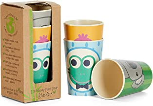 Coocootsa Drinking Cup Set for Kids – 3-Piece Colorful Toddler Cups Set – Frog, Koala and Bird Funny Design – Eco-Friendly and Reusable – Bamboo Fiber – Original Baby Shower Gift