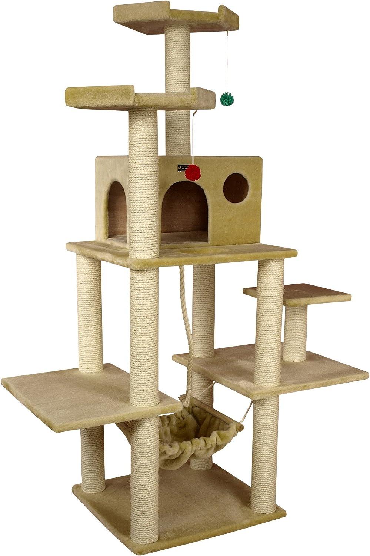 Aeromark International Armarkat Cat Tree Furniture Condo, Height 70Inch to 75Inch