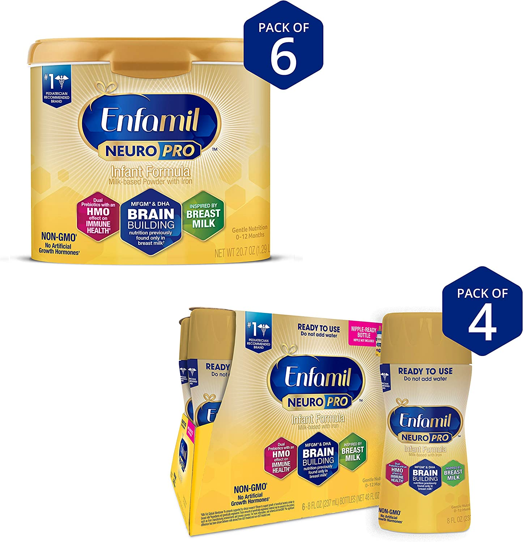 Enfamil NeuroPro Baby Formula Max 54% OFF Milk 20.7 reusable oz Ranking TOP1 tub Powder