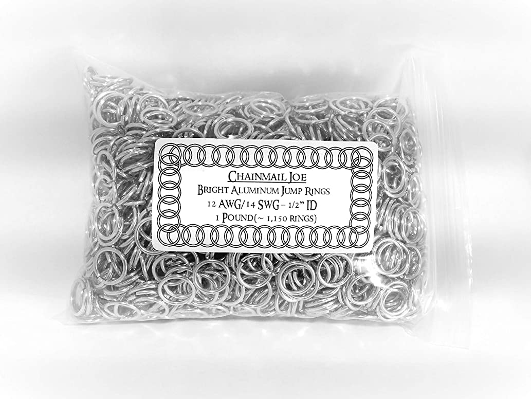 1 Pound Bright Aluminum Chainmail Jump Rings 14G 1/2