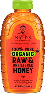 Nature Nate's 100% Pure Organic, Raw & Unfiltered. Squeeze Bottle; Allnatural Sweetener, USDA Certified Organic, No Additi...