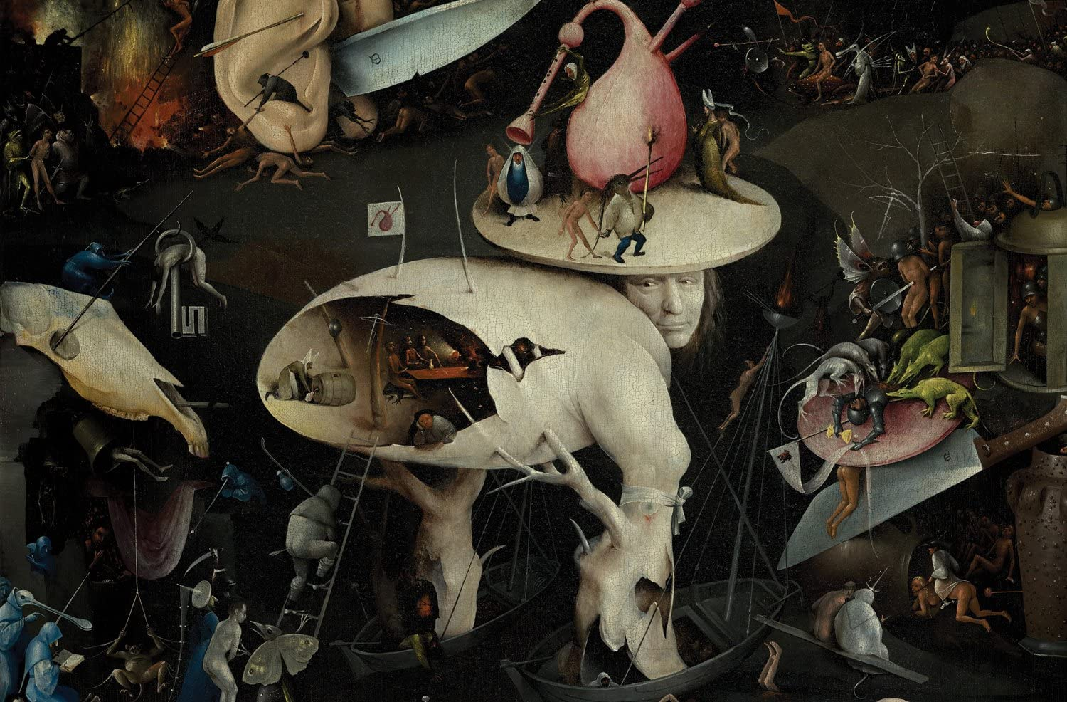 JP London Mural The Garden of Earthly Delights Painting at 3 Wide by 2 Feet high SPMUR2288 Fully Removable Peel and Stick Wall Art