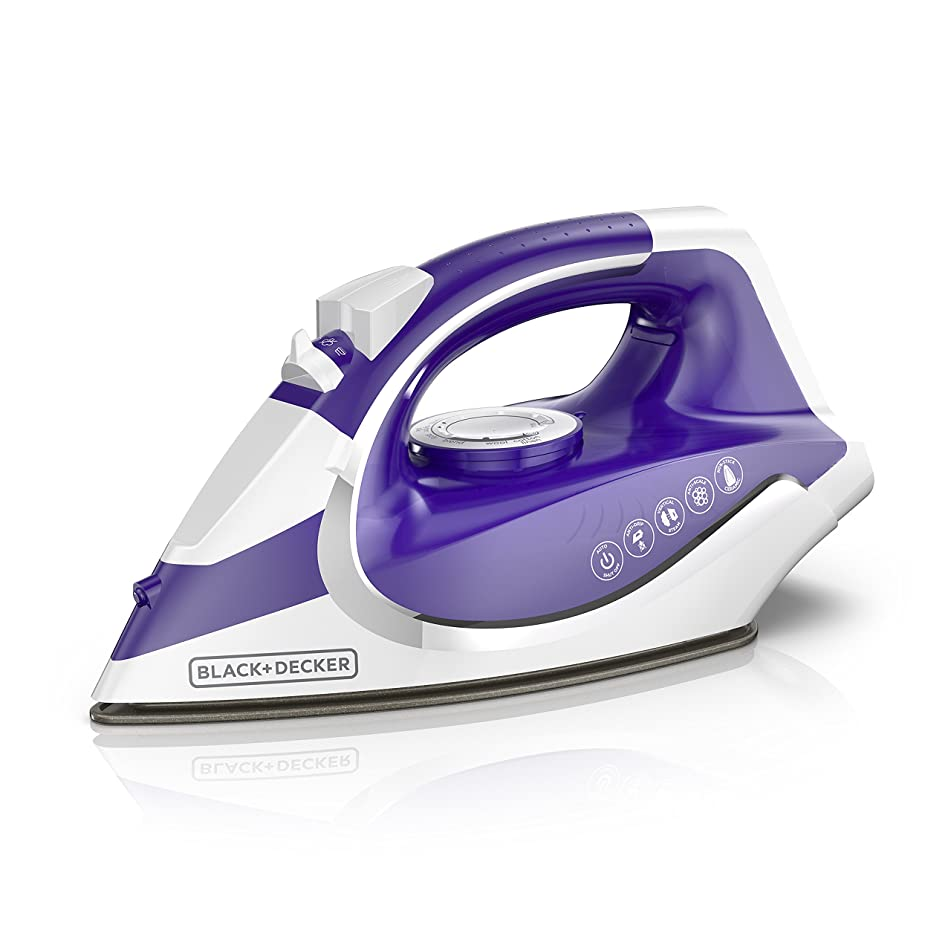 BLACK+DECKER ICL500 Light 'N Go Cordless Iron with Nonstick Soleplate, Large Water Tank, Purple