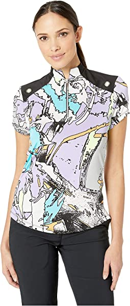 Tsunami Print Short Sleeve Top