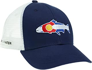 RepYourWater Colorado Trout Flag Mesh Back Hat NAVY/WHITE ONE SIZE