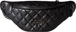 LOVE Moschino - Metallic Quilted Fanny Pack