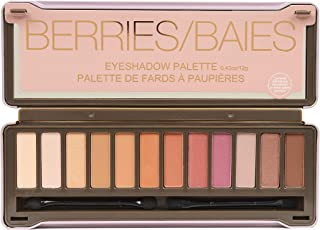 BYS Eyeshadow Palette Tin with Mirror and Applicator 12 Shades (1, Matte & Metallic Berries)