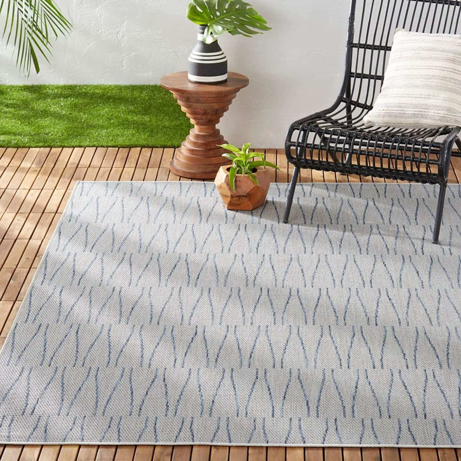 Inexpensive Nicole Miller New York Patio Indoor Outdoor Country Area Willow Cheap super special price