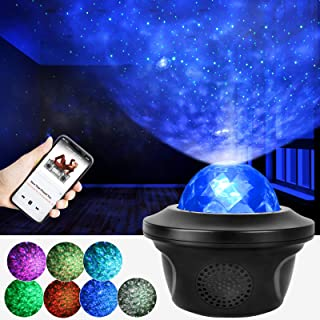 VTECHOLOGY Night Light Projector Galaxy Star Projector Led Ocean Wave Projector with Remote Timer Christmas Gifts