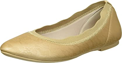 Skechers Women's Cleo Place-with Lace and Printed Stretch Fabric Skimmer Ballet Flat