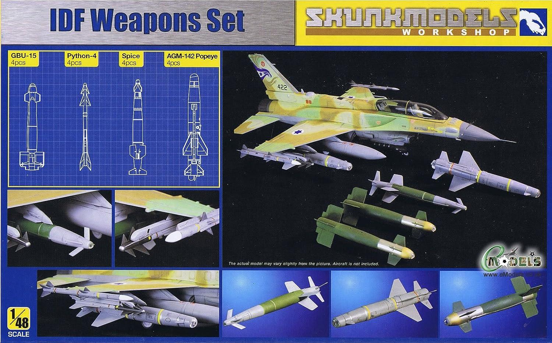Shunkmodels 1 48 IDF Weapon Set (Python4, GBU15, Popeye, Spice) SW48001