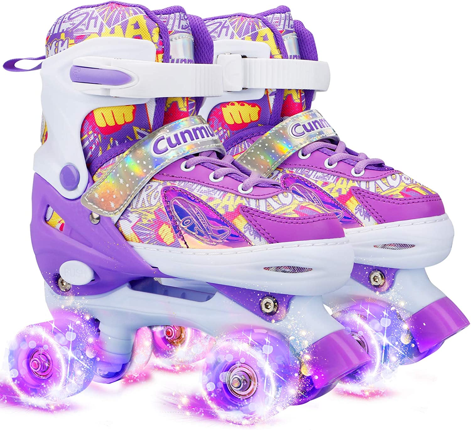 1 year warranty Cunmucu Roller Skates for Inventory cleanup selling sale Girls and Boys 4 Size Men Women