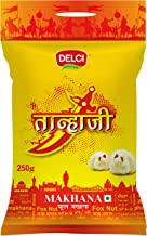 DELCI Tanhaji Makhana 250gm Hand Picked Lotus Seeds Pop/Gorgon Nut Puffed Kernel (Makhana) Grade - Big Size Pouch, 250g