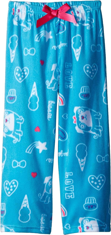 Komar Kids Girls Micro Fleece Pant Pug Print