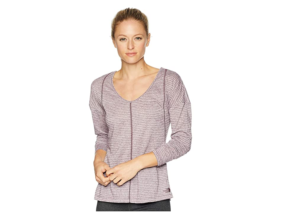 The North Face Beyond the Wall Natural Fiber Long Sleeve Shirt (Fig Stripe) Women