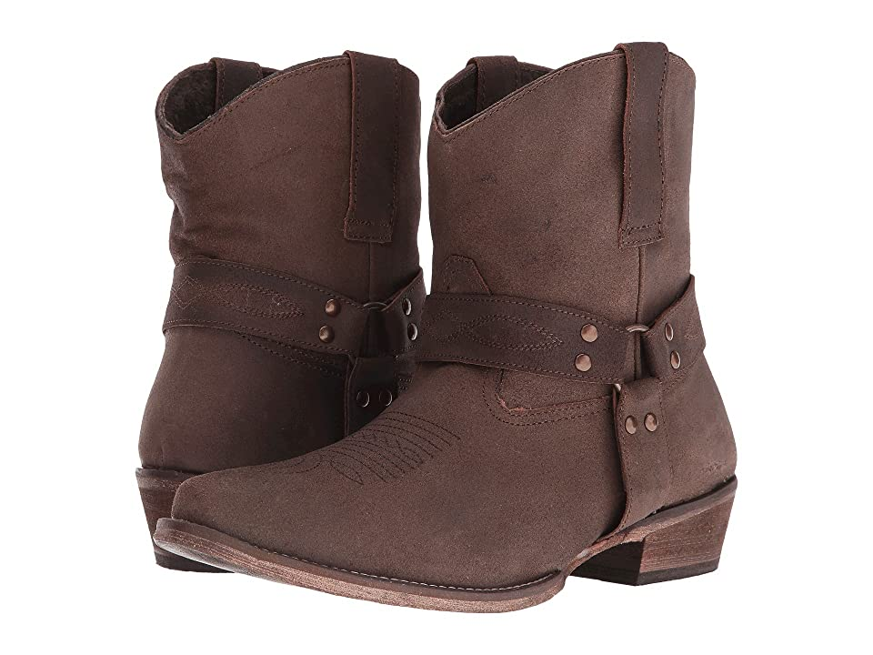 Roper Harness (Brown Split Crazy) Cowboy Boots