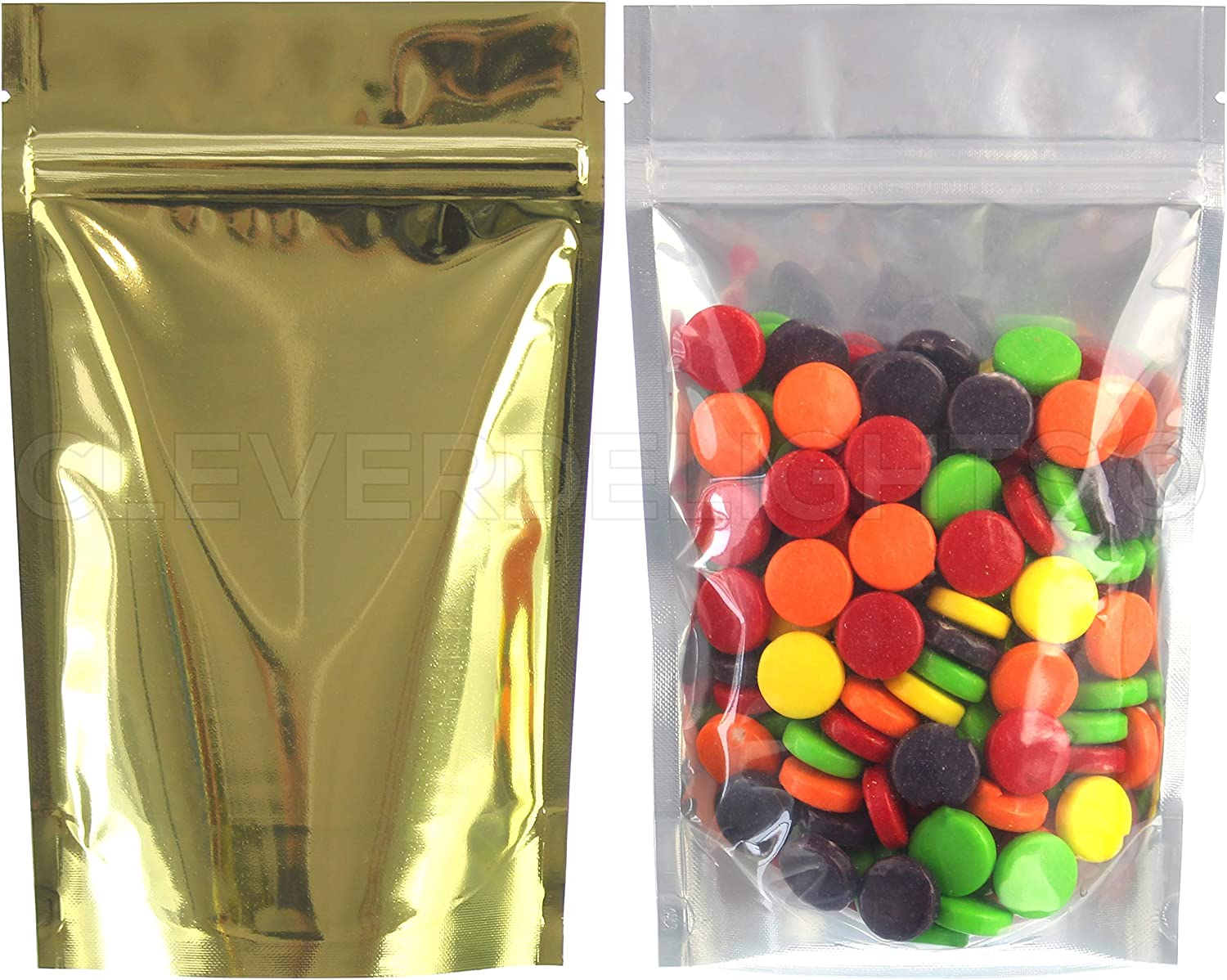 CleverDelights Gold Clear Stand Up Pouches 4oz Pack 2021 - 1000 5 Las Vegas Mall