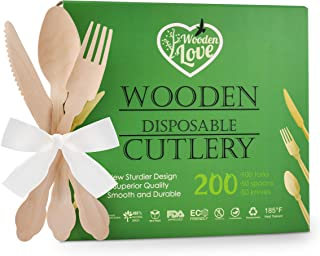 """Disposable Wooden Cutlery Set 
