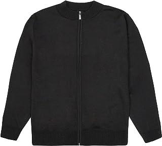 Metzuyan Mens Knitted Cardigan Full Zipped Casual Work Warm