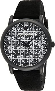 Emporio Armani Leather Wrist Watch for Men