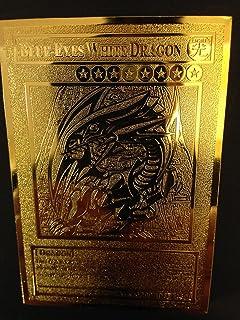 yugioh Blue-Eyes White Dragon English Golden Metal Card Custom Made