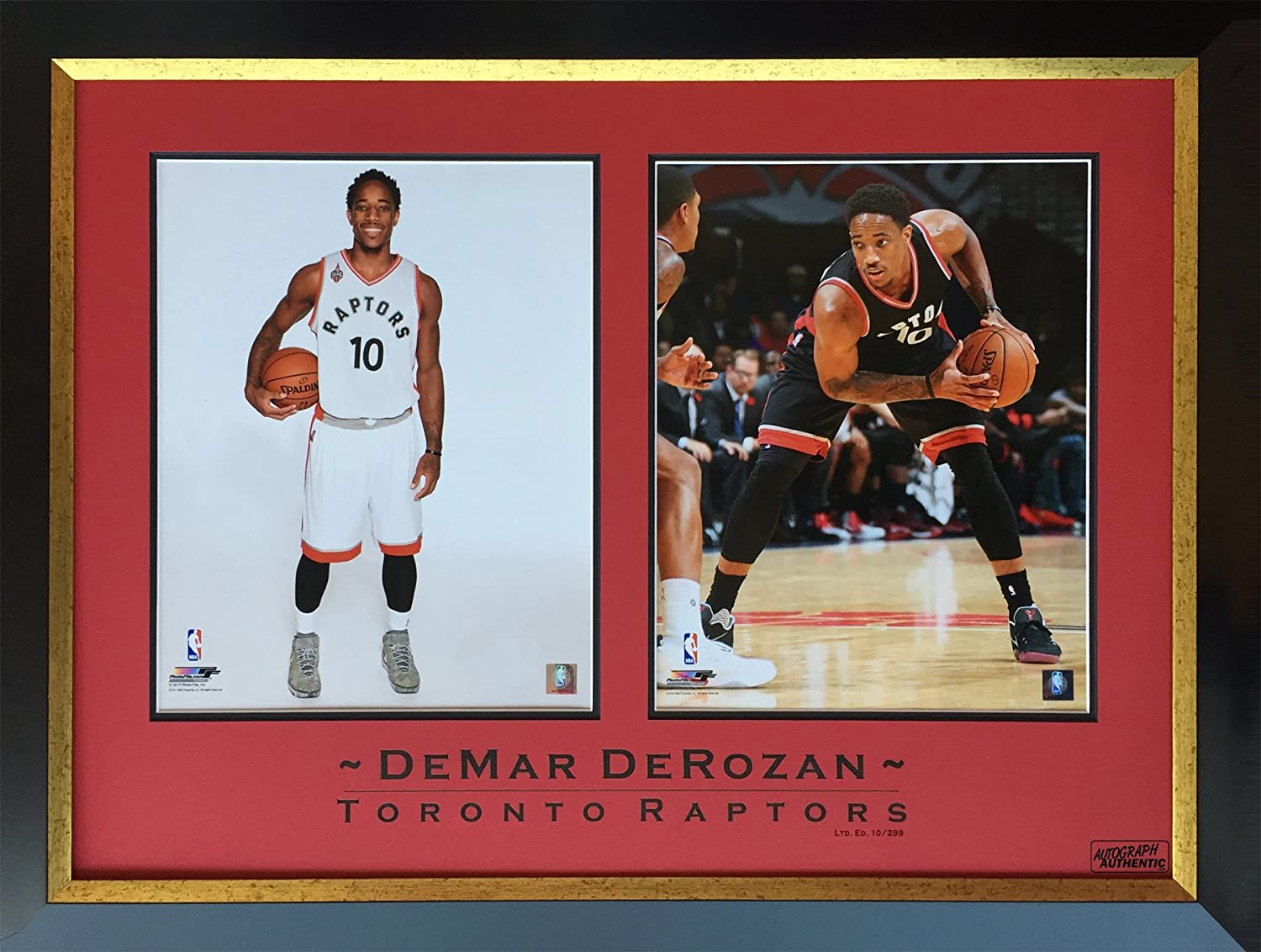 DeMar DeRozan Limited Edition 10 of 299 Framed Photos  Tgoldnto Raptors