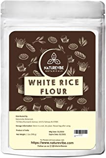 Naturevibe Botanicals White Rice Flour 2lbs | Non GMO and Gluten Free