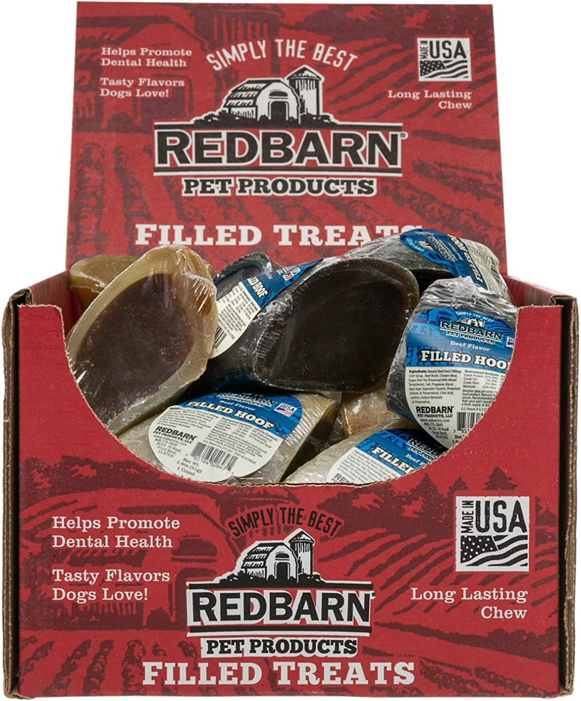 REDBARN Beef Filled Hoof Dog Chew, 25 Count
