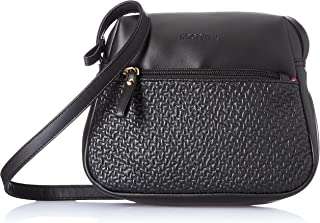 Amazon Brand - Eden & Ivy Women's Eden & Ivy Cross Body with Textured Zipper Pocket (Black)
