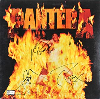 Pantera (4) Signed Reinventing the Steel Album Cover W/Vinyl BAS #A57215