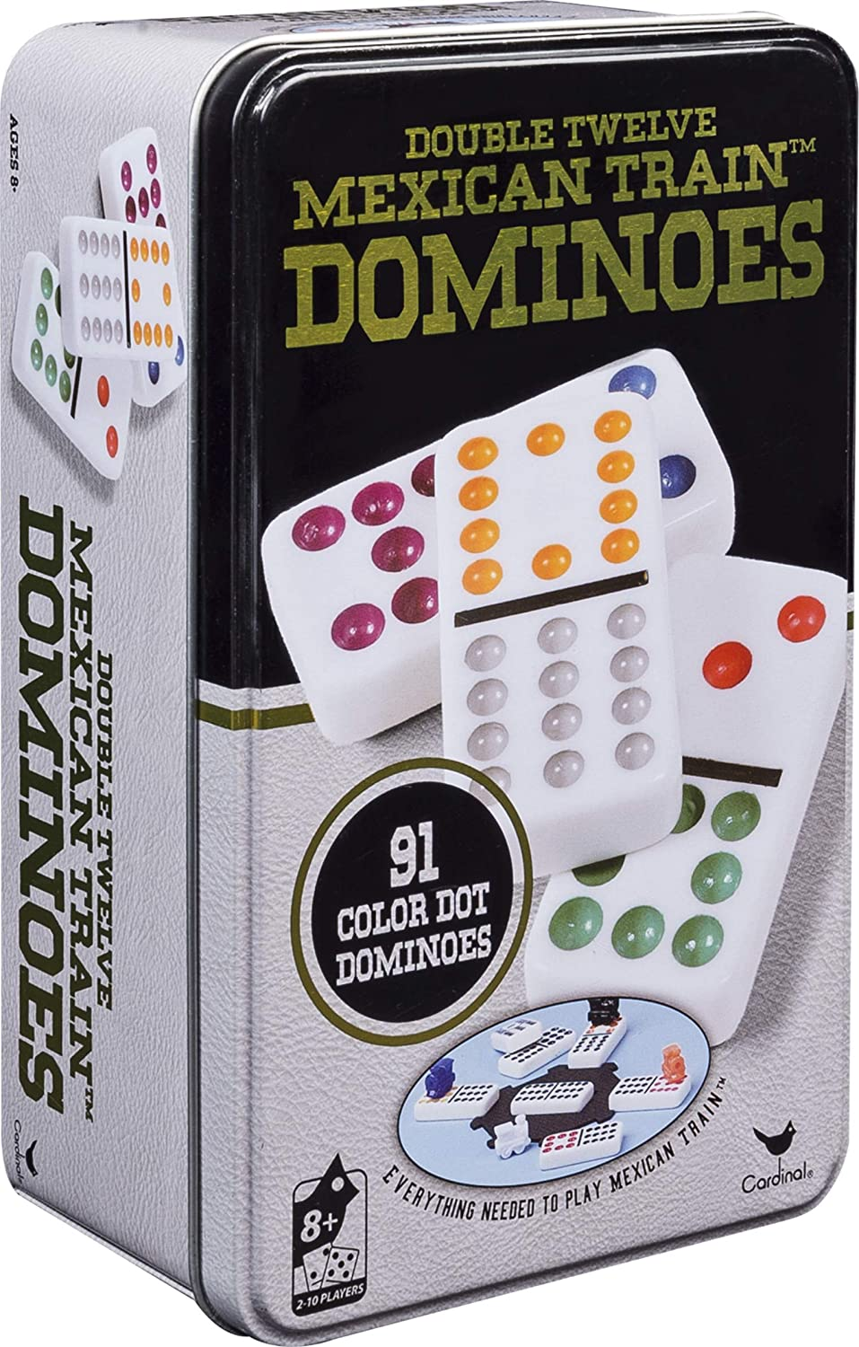 Double Twelve Mexican Train in Tin Japan Maker New Dominoes Store