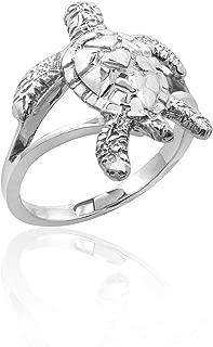Honolulu Jewelry Company Sterling Silver Turtle Honu Ring