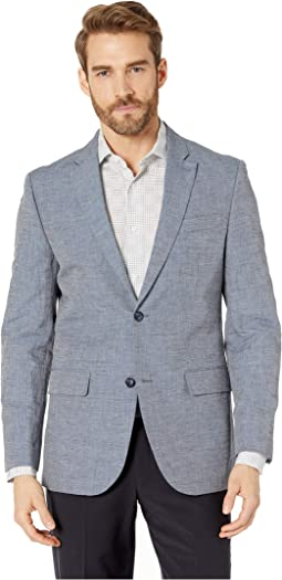 Slim Fit End on End Linen Jacket