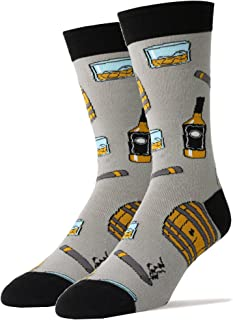 Oooh Yeah Men`s Novelty Crew Socks, Beer Socks, Whiskey Socks, Funny Crazy Silly Cool Socks