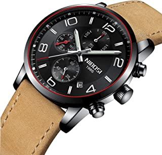 Men's Quartz Analog Watches Fashion Stainless Steel Watch Waterproof Chronograph Business Wristwatch