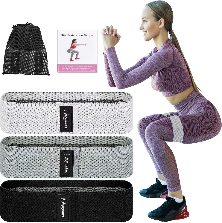 3PCS Resistance Bands Booty Fabric Glutes Hip Circle Legs Squat Yoga Non Slip US