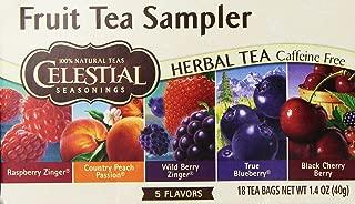 Celestial Seasoning Fruit Tea Sampler 18 bags (Two Boxes)