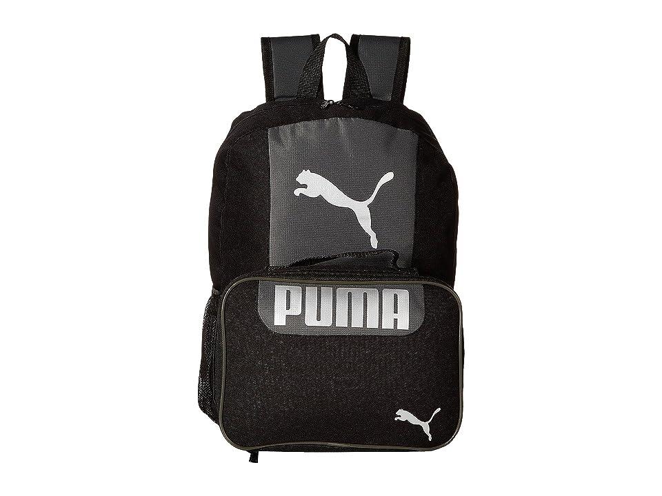 PUMA Evercat Grub Combo 2.0 Backpack (Little Kids/Big Kids) (Black/Silver) Backpack Bags