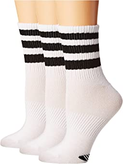 adidas Originals - Originals Ankle 3-Stripe 3-Pack Quarter Socks