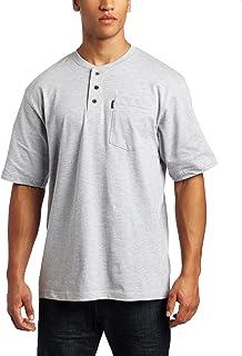 Key Industries Men`s Short Sleeve Heavyweight 3-Button Pocket Henley Big/Tall