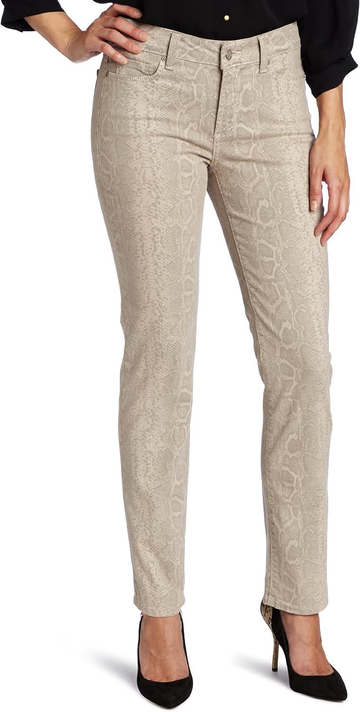 NYDJ Women's Petite Size Sheri Python Print Skinny Jeans