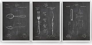 Décor de Cuisine Affiche De Brevet - Lot De 3 Affiches - Impressions Coutellerie Prints Art Patent Posters Poster Cadeaux ...