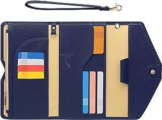 Zoppen Passport Holder Travel Wallet (Ver.5) for Women Rfid Blocking Multi-purpose Passport Cover Case Document Organizer ...