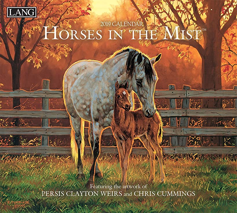 The LANG Companies Horses in The Mist 2019 Wall Calendar (19991001917)