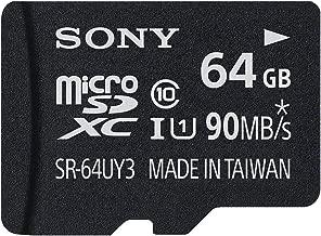 Sony 64GB MicroSD Class 10 UHS-1 High Speed Memory Card (SR-64UY3)