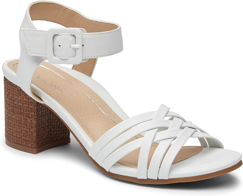 Vionic Ranking TOP5 Women's Peony Heeled Sandals Sandal Max 86% OFF Blocked Heel Ladies -